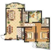 祥安东城国际花园2室2厅2卫128平方米户型图