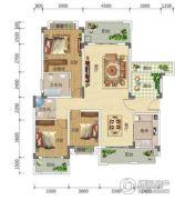 宏信依山郡3期3室2厅2卫140平方米户型图