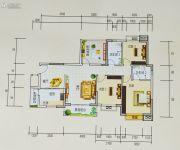 和世新都4室2厅2卫125平方米户型图