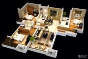 雅居乐林语城3室2厅2卫115平方米户型图