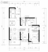 海伦堡・熙岸3室2厅2卫98平方米户型图