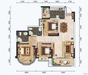 红星商业广场二期3室2厅2卫109平方米户型图