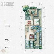 大汉汉园107平方米户型图