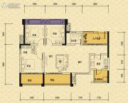 依城郡3室2厅1卫105平方米户型图