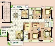 依岸康堤5室2厅3卫225平方米户型图