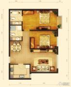 玺源台2室2厅2卫88平方米户型图