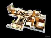 雅居乐林语城3室2厅2卫131平方米户型图