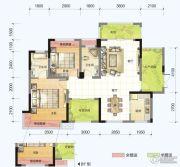 春风紫金港2室2厅2卫99平方米户型图