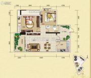 夜月风光・上城2期2室2厅1卫85平方米户型图