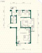 丽江苑2室1厅1卫72平方米户型图