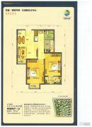 荣盛・锦绣外滩2室2厅1卫72平方米户型图