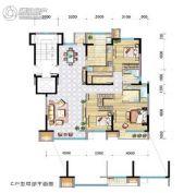 兴庆府大院3室2厅2卫144平方米户型图
