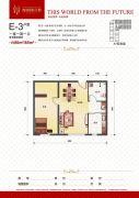 瀚城国际二期1室1厅1卫80--85平方米户型图