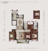 仙居新城吾悦广场4室2厅2卫170平方米户型图