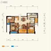 绿地中心云玺4683室2厅1卫89平方米户型图