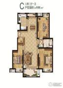 中国铁建青秀城3室2厅1卫111平方米户型图