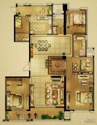 山水和园4室2厅3卫0平方米户型图