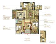 复地江城国际4室2厅2卫141平方米户型图
