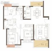 新力花园3室2厅2卫109平方米户型图