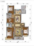 万科公园里4室2厅2卫165平方米户型图