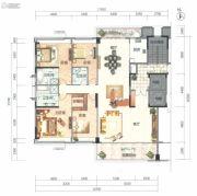 顺德华侨城・天鹅湖4室2厅3卫244平方米户型图