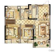 中天铭廷3室2厅1卫95平方米户型图