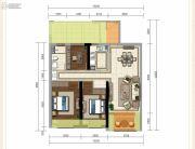 龙斗壹号・海岸城3室2厅1卫111平方米户型图