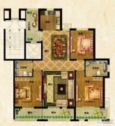 万光中央公园3室2厅2卫130平方米户型图