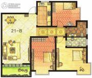 东方明珠3室2厅2卫137平方米户型图