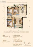上品・百合园3室2厅2卫143平方米户型图