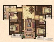 恒大翡翠华庭3室2厅2卫119平方米户型图