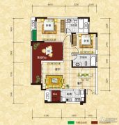 光瑞江都华宸2室2厅2卫101平方米户型图