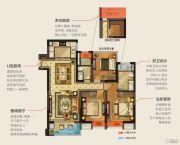 华润幸福里3室2厅2卫115平方米户型图