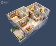 台北城上城2室2厅2卫86平方米户型图