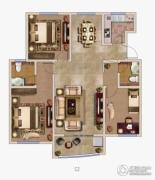 兰亭御城3室2厅2卫0平方米户型图