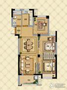 璞缇学苑3室2厅1卫89平方米户型图