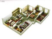 启迪国际城仕家3室2厅2卫121平方米户型图