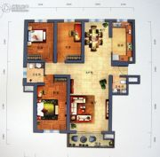 景园・盛世华都3室2厅2卫162平方米户型图