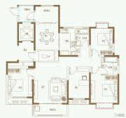 利港银河广场4室2厅2卫155平方米户型图