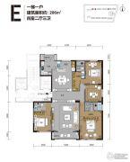 曦园4室2厅3卫206平方米户型图