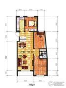 辽阳凯旋门广场3室2厅1卫106平方米户型图