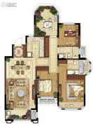 金地湖城艺境3室2厅2卫119平方米户型图