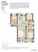 林荫大院3室2厅2卫164平方米户型图