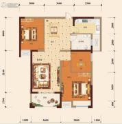 宏维・山水明城・卧龙苑3室2厅1卫102平方米户型图