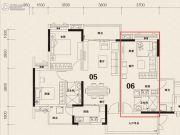 科城山庄1室0厅1卫36平方米户型图
