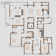 保利云禧3室4厅4卫380平方米户型图