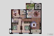 德信泊林公馆3室2厅2卫110平方米户型图