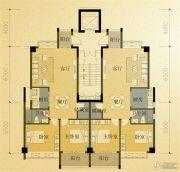 凤凰城2室2厅1卫88平方米户型图