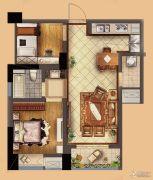 星河国际2室2厅1卫70平方米户型图