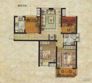 达安上品花园2室2厅1卫90平方米户型图